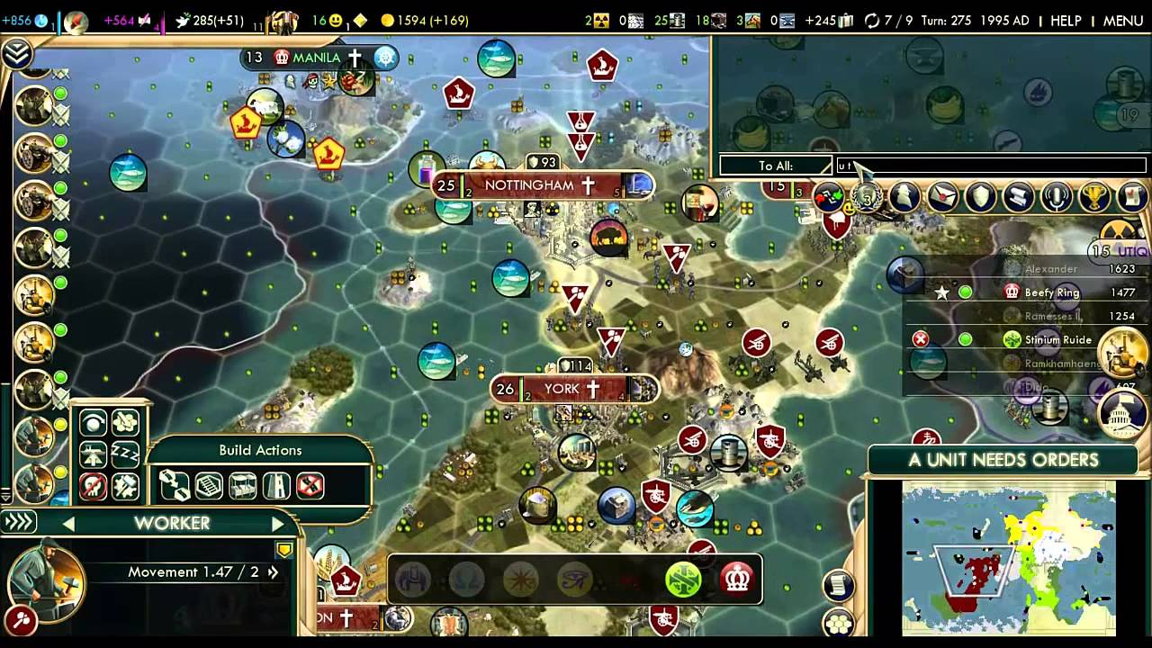 Civ 5 BNW Multiplayer #15 - Imminent Science Victory