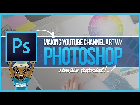 HOW TO MAKE YOUTUBE CHANNEL ART FROM SCRATCH! PHOTOSHOP TUTORIAL STEP BY STEP
