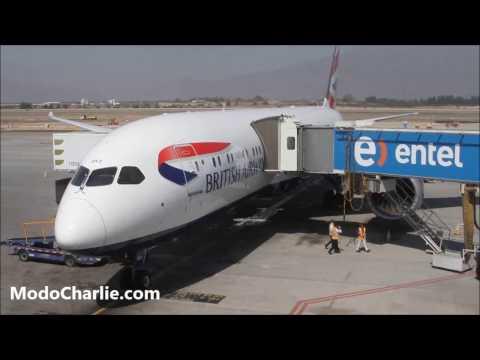 Visita al interior del 787 Dreamliner de British Airways en SCL