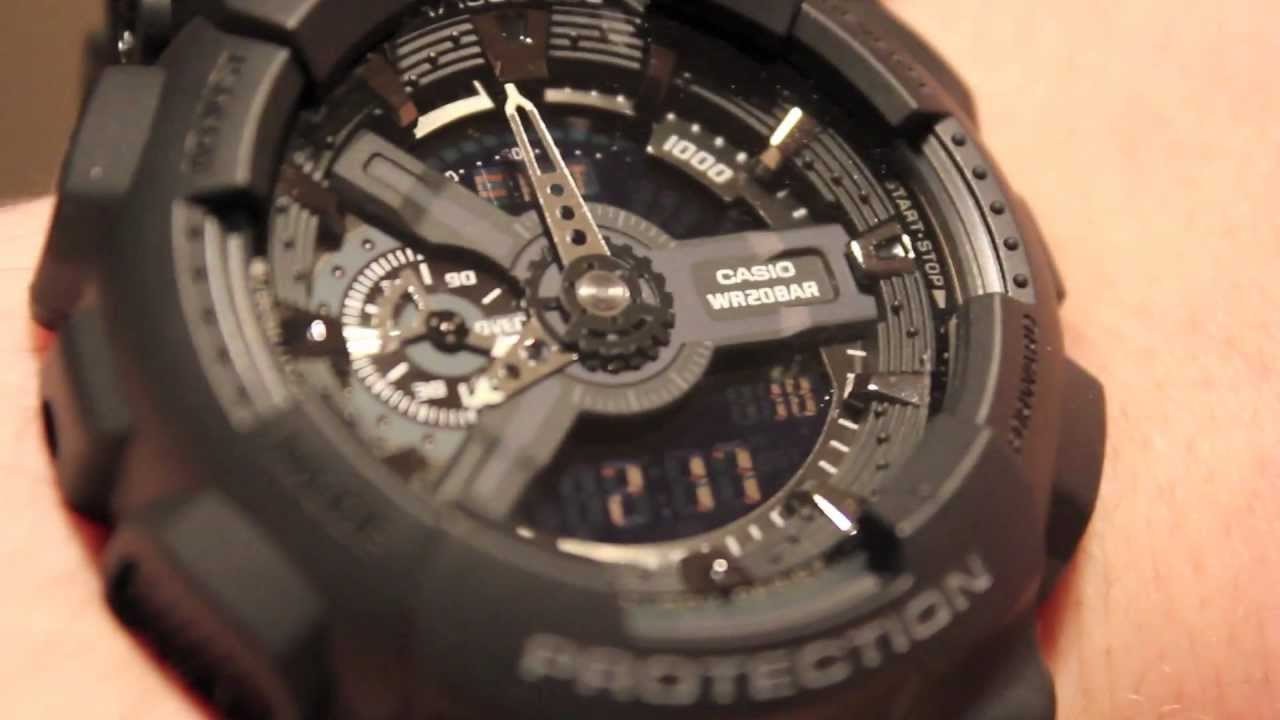 98ddfa1fa26 Casio G-SHOCK GA110-1B Unboxing and Review - Military Stealth Black ...