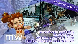 Cabal Online Episode 21 and 22 Slot for Vehicle Costume, Force Wing Costume and Chaos Earrings
