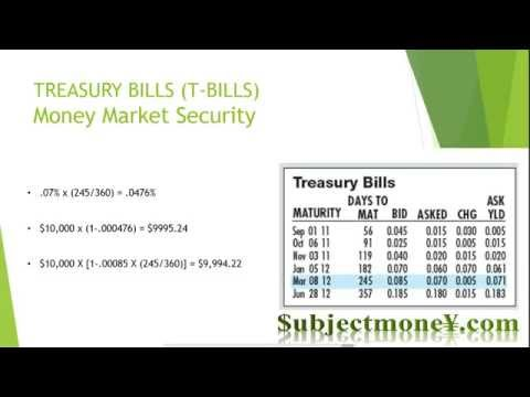The Money Market - Asset Classes & Financial Instruments/Securities Lesson