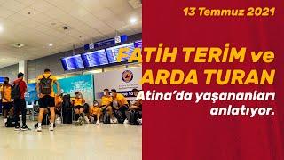Teknik direktörümüz Fatih Terim ve kaptanlarımızdan Arda Turan'ın Atina dönüşü yaptığı açıklamalar