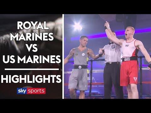 HIGHLIGHTS: Royal Marines vs US Marine Corps 🥊| Boxing Tournament