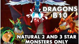 summoners war nat 2 3 fully farmable dragons b10 face team
