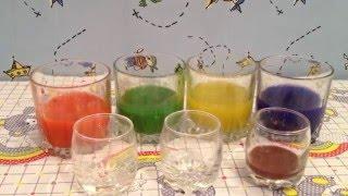 Краски. Смешивание цветов. Цветная вода. Paint. The mixing of colors. Colored water(В этом видео мы будем смешивать разные цвета,и посмотрим ,что из этого выйдет. Композиция