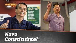 Nova Constituinte? Haddad recua e Bolsonaro desautoriza Mourão
