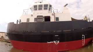Module and launch of a 16m tugboat