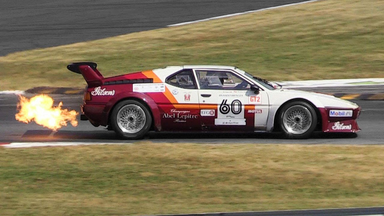 1979 BMW M1 ProCar Sound on Track & Spitting Massive Flames!! - YouTube