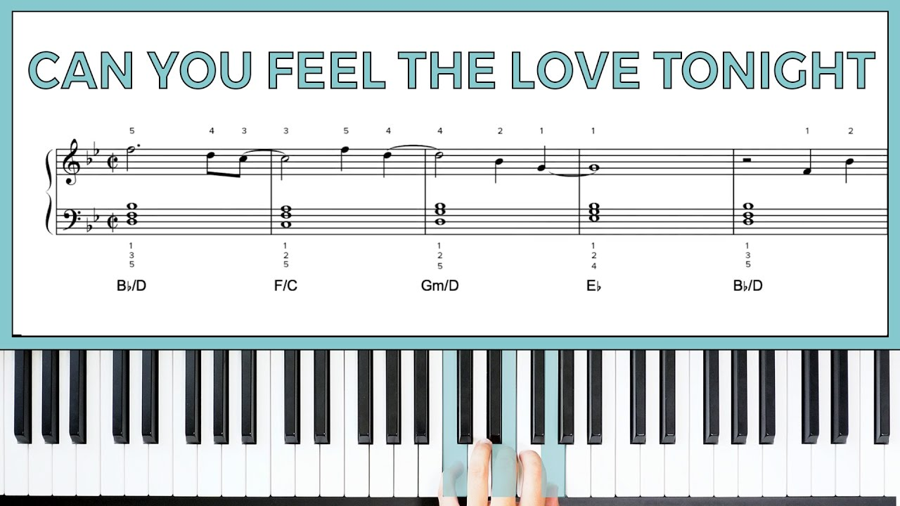 """How To Play the Chorus to """"Can You Feel The Love Tonight"""" by"""