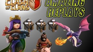 Clash of Clans | Amazing Replays | Unlucky... AQ MVP, GoHog, and DragLoon raids!