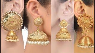Latest Gold Jhumka Traditional Style Designs 2019 || Elegant & Stylish Gold Jhumka Designs | S.C