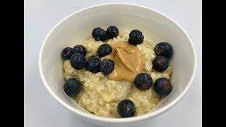Здоровый завтрак | Овсянка с бананом и яйцом | Как варить овсянку на молоке