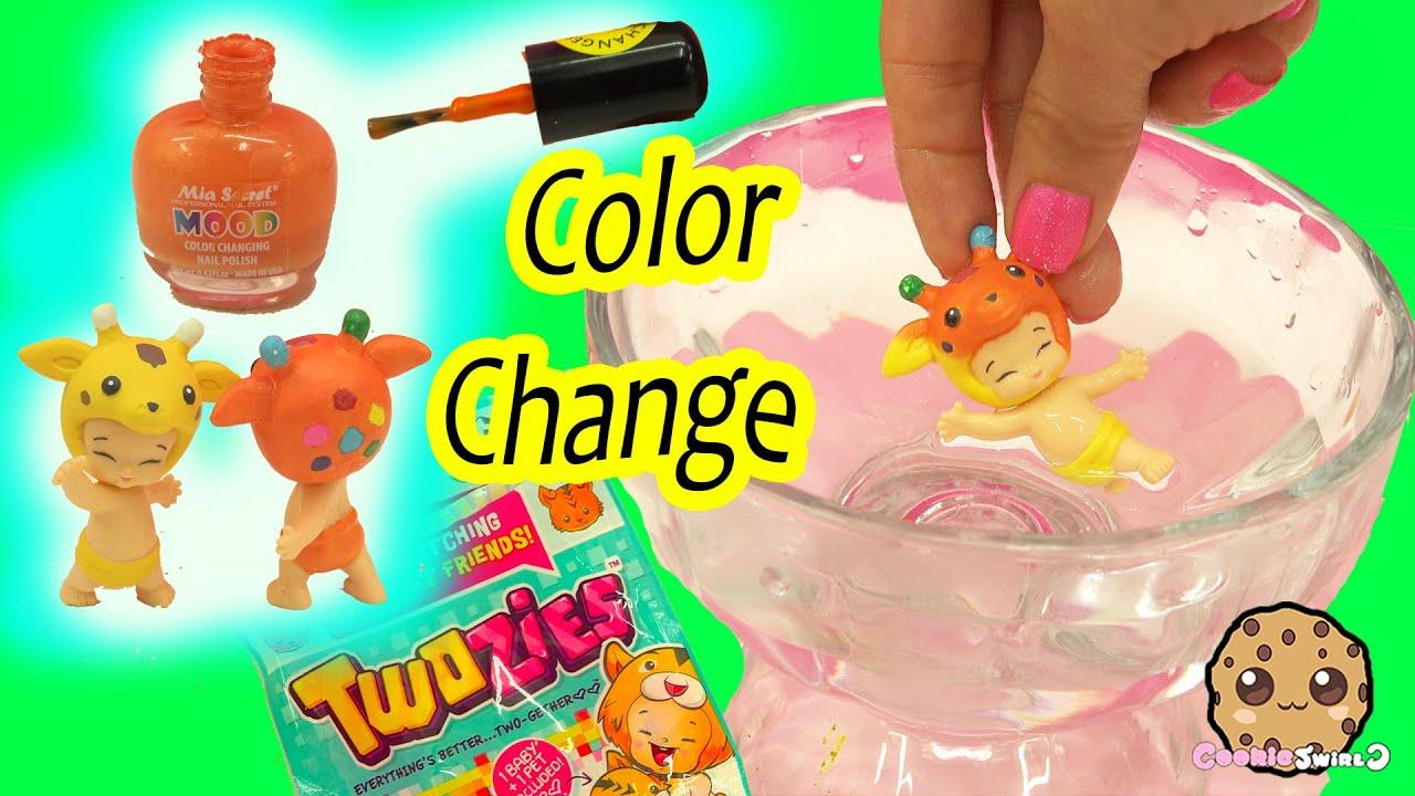 Color Changing Twozies Baby - DIY Nail Polish Craft Custom ...