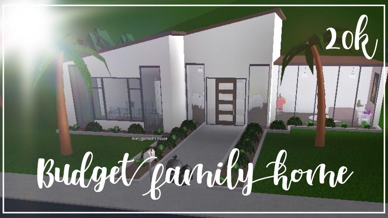 Roblox Bloxburg Budget Family Home 20k Youtube