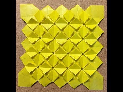 hydrangea origami from 14Divide 14分割からのあじさい折り