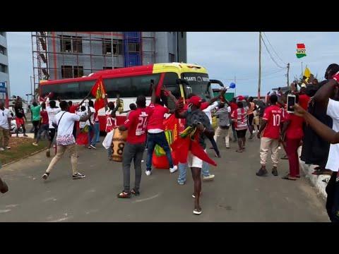 How Hearts and KOTOKO arrive at Accra Sports Stadium