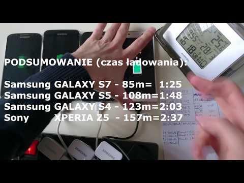 Galaxy S7 vs S5 vs S4 vs Xperia Z5 TEST Czas Ładowania (charging time) PL