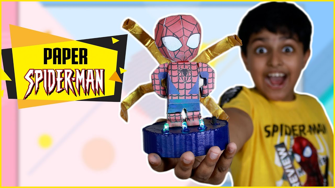 How to make SPIDER MAN Action Figure with Paper (Free Template!) | कागज़ का Spiderman | Paper Craft