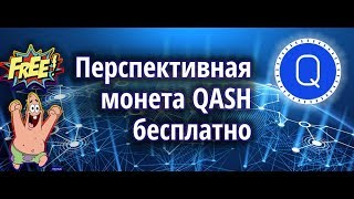 Перспективная монета QASH бесплатно