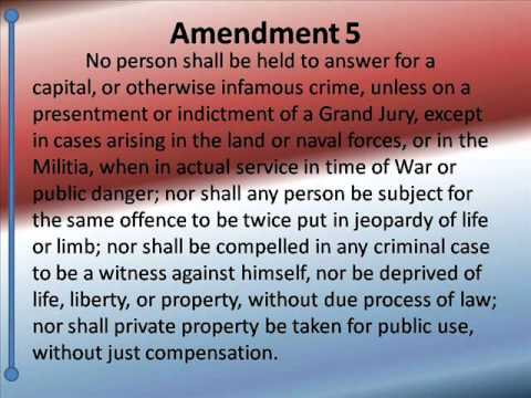 Bill of Rights -- Hear and Read the 10 amendments -- U.S. Constitution