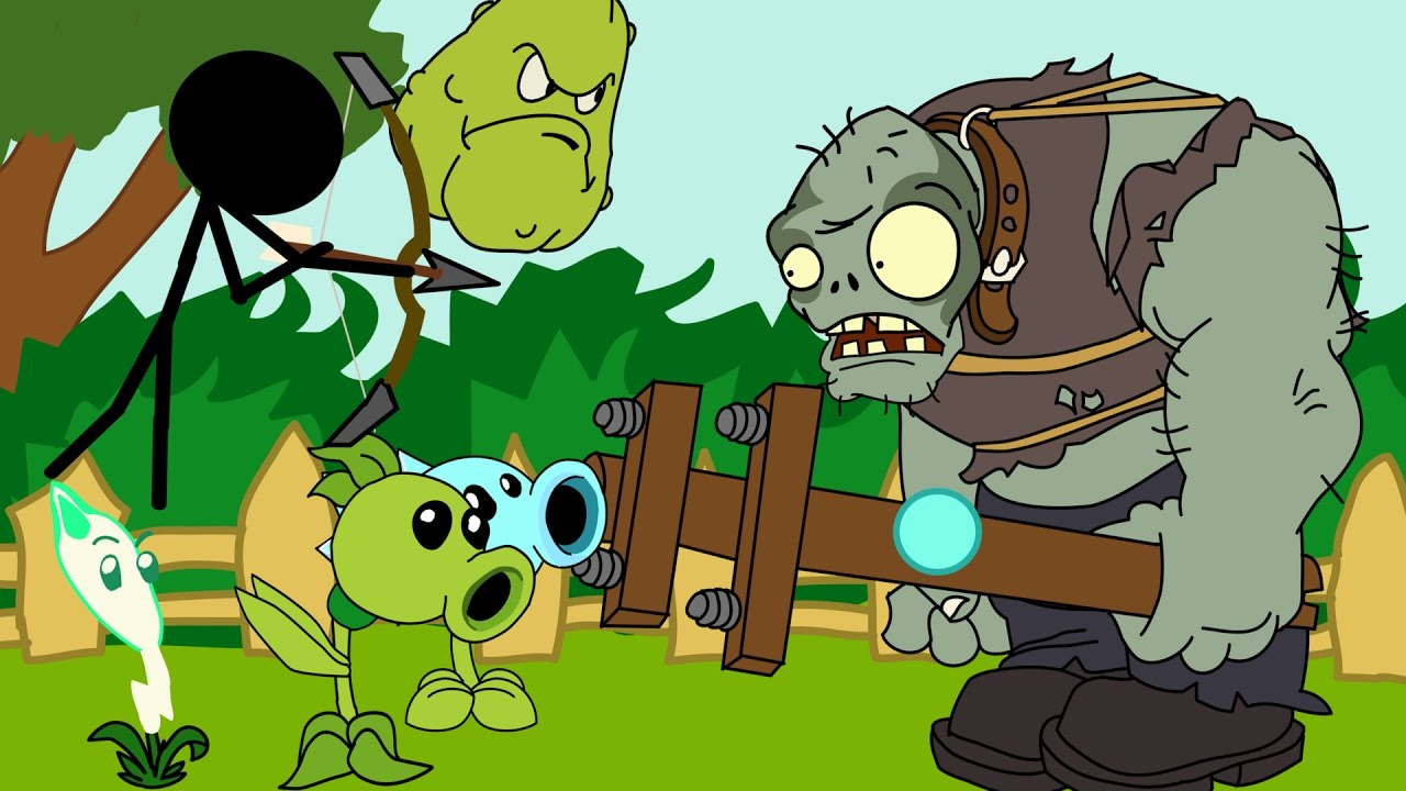Plants Vs Zombies Animation Vs Zombies Battle Cartoon