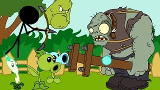 Plants vs. zombies ANIMATION vs Zombies Battle (Cartoon)