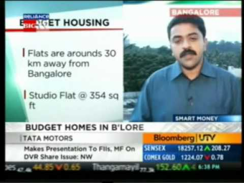 Bloomberg UTV Smart Money 18 Aug 2010 Affordable Homes In Bangalore