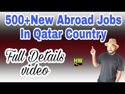 Abroad Job At Qatar Country,500+ Jobs Post, Salary 1800-2300 Qatari Riyal