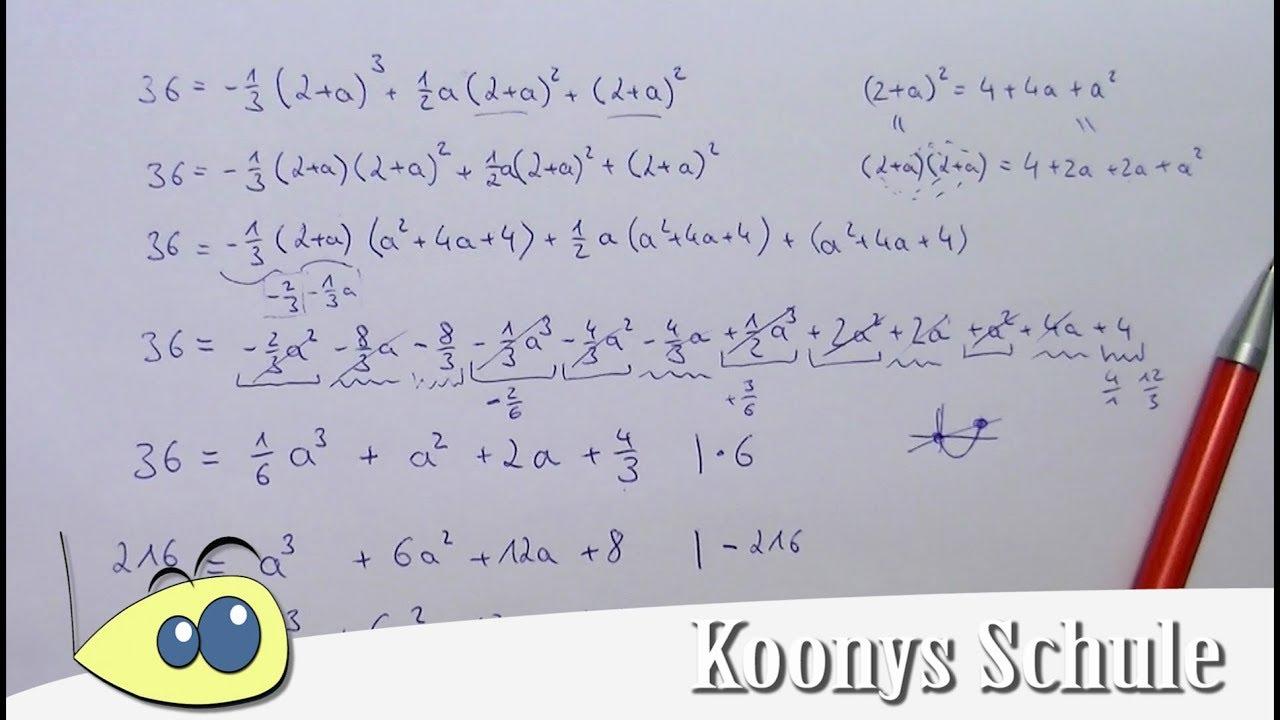 Schwierige Gleichung 3. Grades vereinfacht und Polynomdivision - YouTube