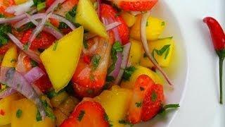 A Refreshing Mango Strawberry Salad.