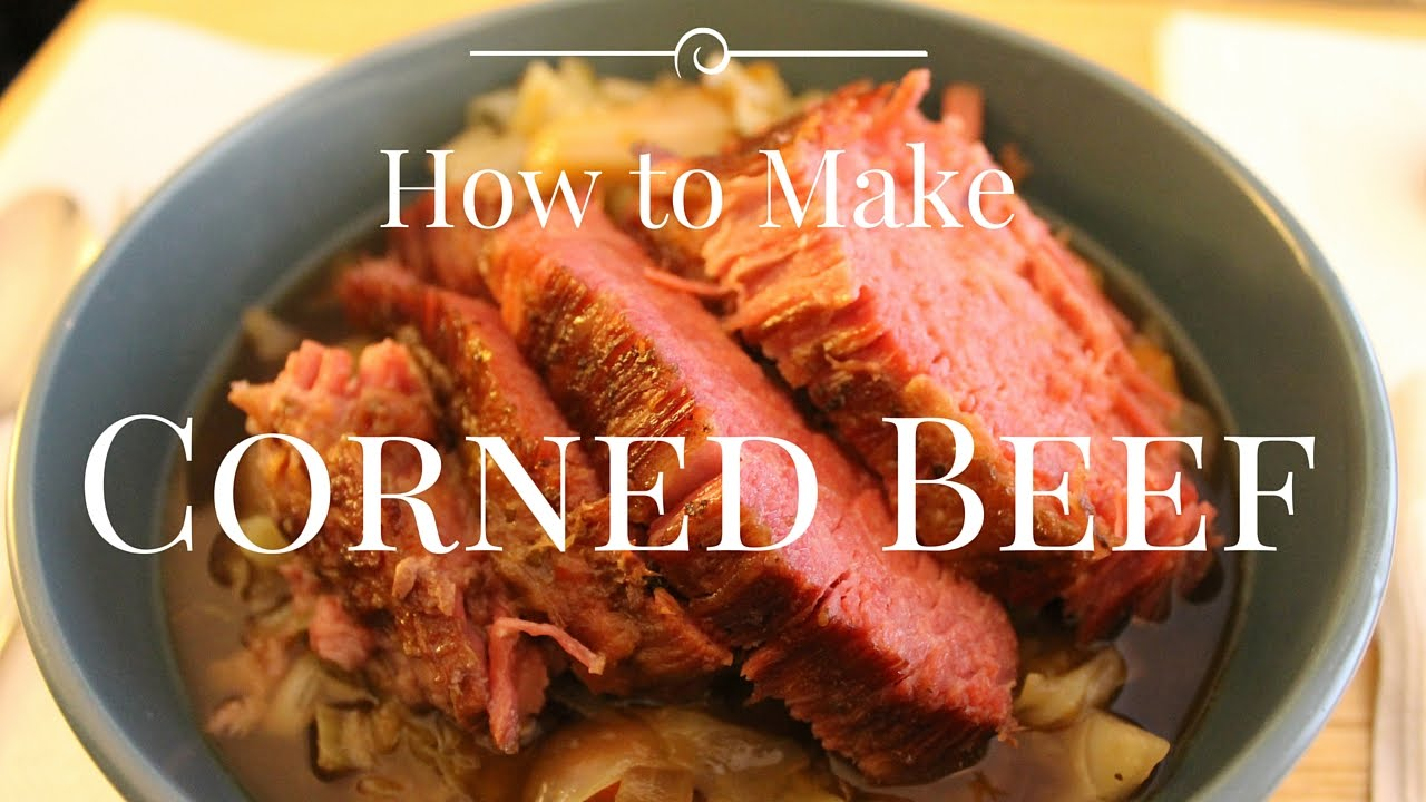 How to Make Corned Beef Brisket Braised in Guinness - YouTube