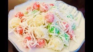 Làm bánh hòn ăn ngon, nhìn đẹp mắt (Tapioca cake with shredded coconut) - - Bếp Nhà Nội