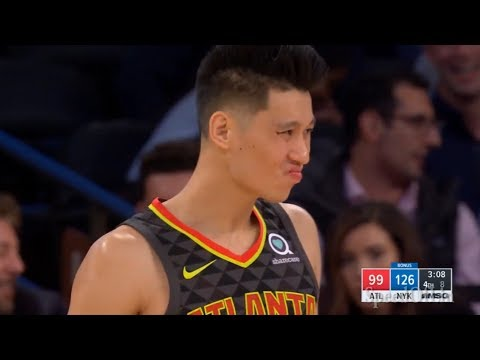 Jeremy Lin ATL Debut Highlights - 10/17/18 Hawks at Knicks