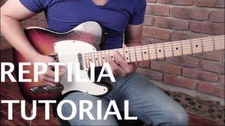 """Como tocar """"Reptilia"""" de The Strokes - Tutorial Guitarra (HD)"""