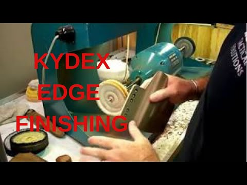 DIY kydex holster edge buffing - getting a mirror finish