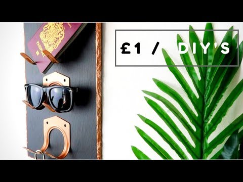 POUNDLAND / DOLLAR STORE STORAGE DIY    £1 DECOR HACK 2018