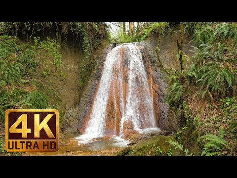 Waterfalls & Rivers. Part 1 - 4K Water Relaxing Scenery | 2 HRS - Sleeping Aid with Water Sounds