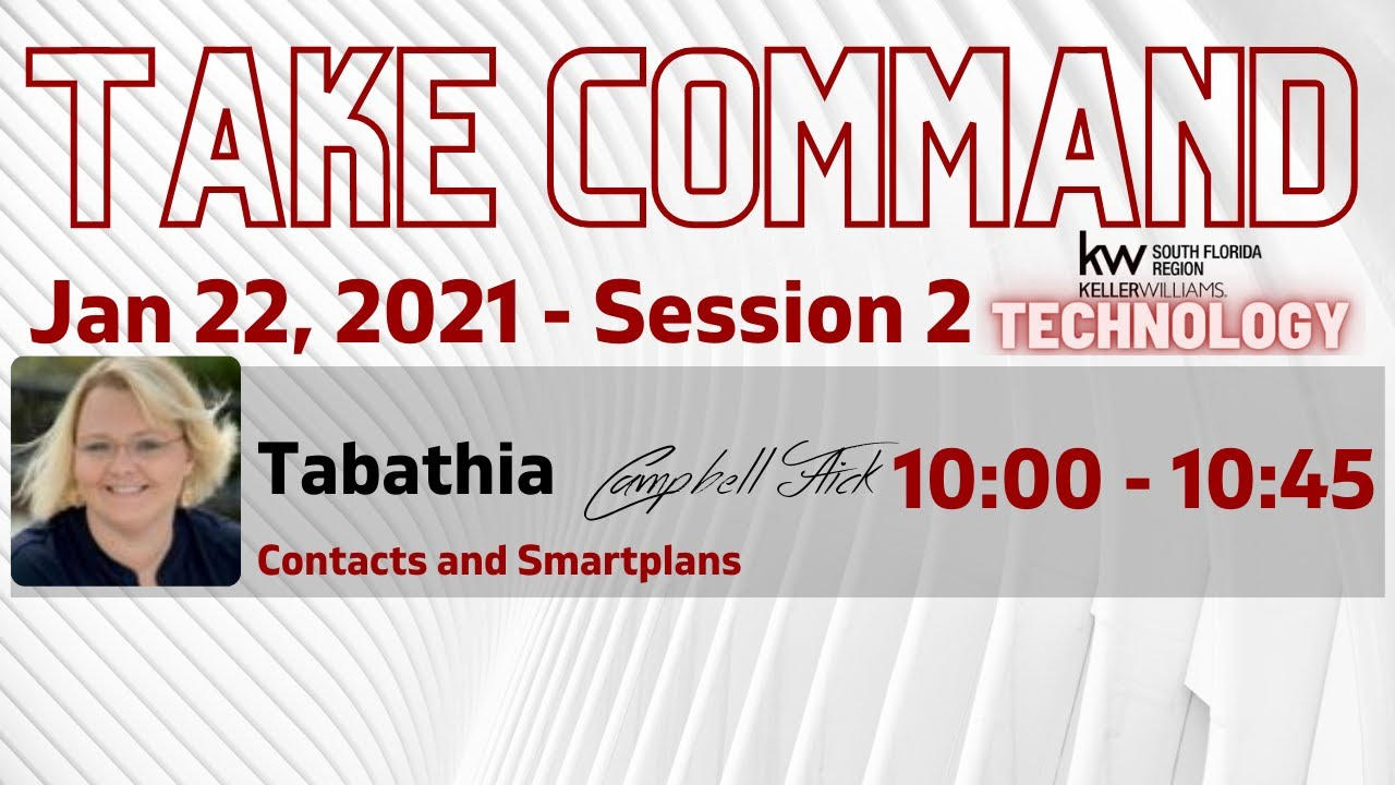 Session 2 Contacts and SmartPlans
