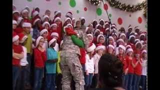 Son surprised by soldier mom
