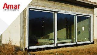 Montaż przesuwnych drzwi balkonowych HST o szerokości 6.5m