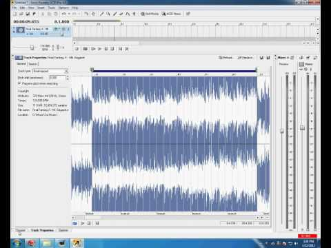 Sony Acid Pro 4 Tutorial How To Cut Create And Render A Track