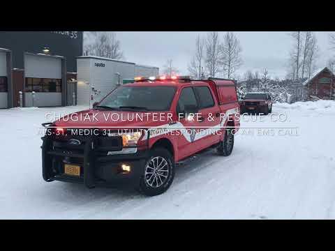Chugiak, Alaska ALS-31, Medic 31, Utility 31 Responding