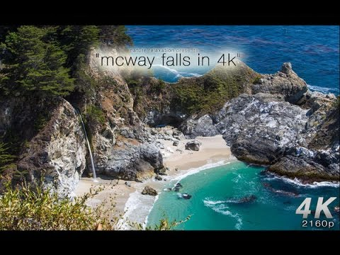 4K ULTRA HIGH-RESOLUTION NATURE: Mcway Falls, Big Sur (Canon 1-Dc)