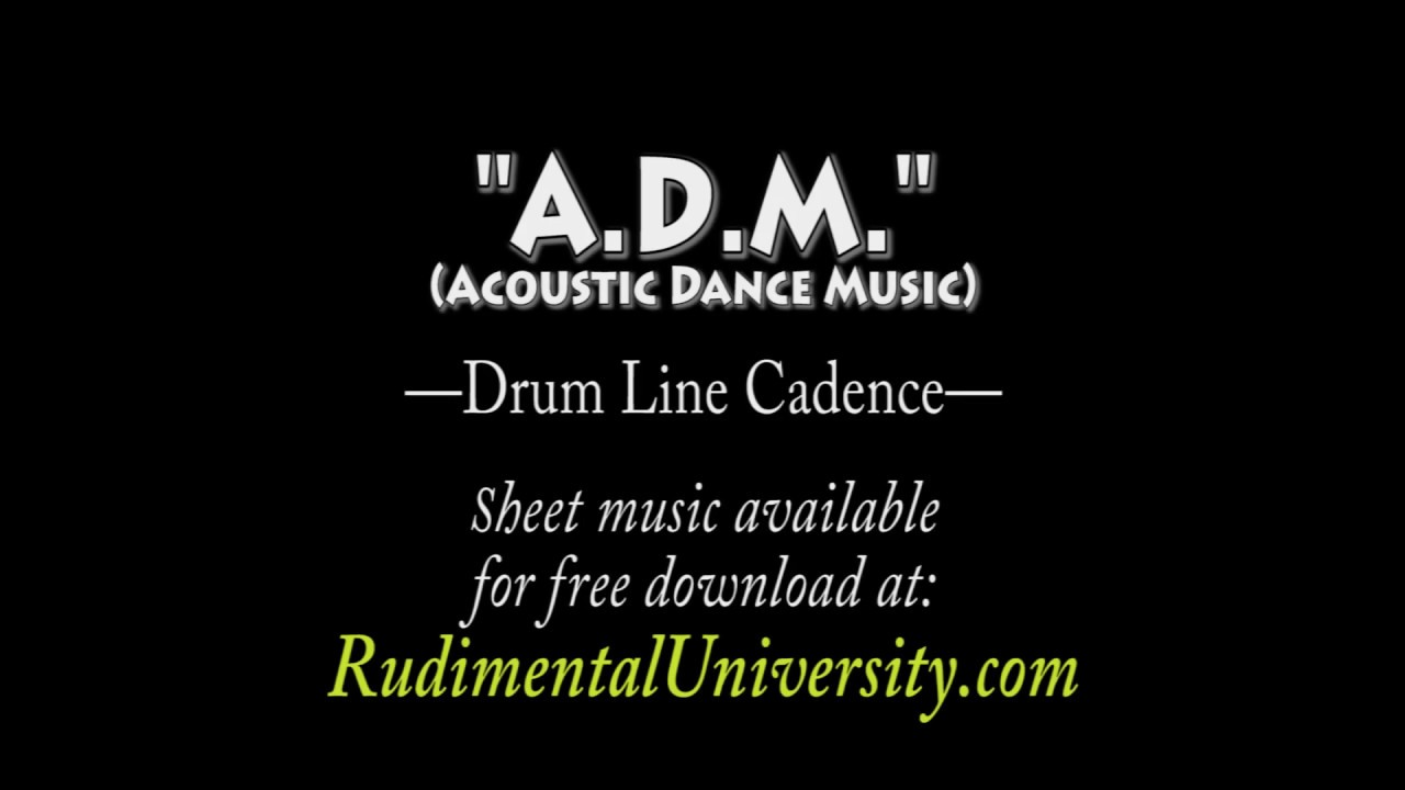 Drum Line Cadences - Downloadable Sheet Music - Rudimental