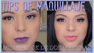 TIPS DE MAQUILLAJE| MISMO LOOK DE DOS MANERAS| CAILYN COSMETICS