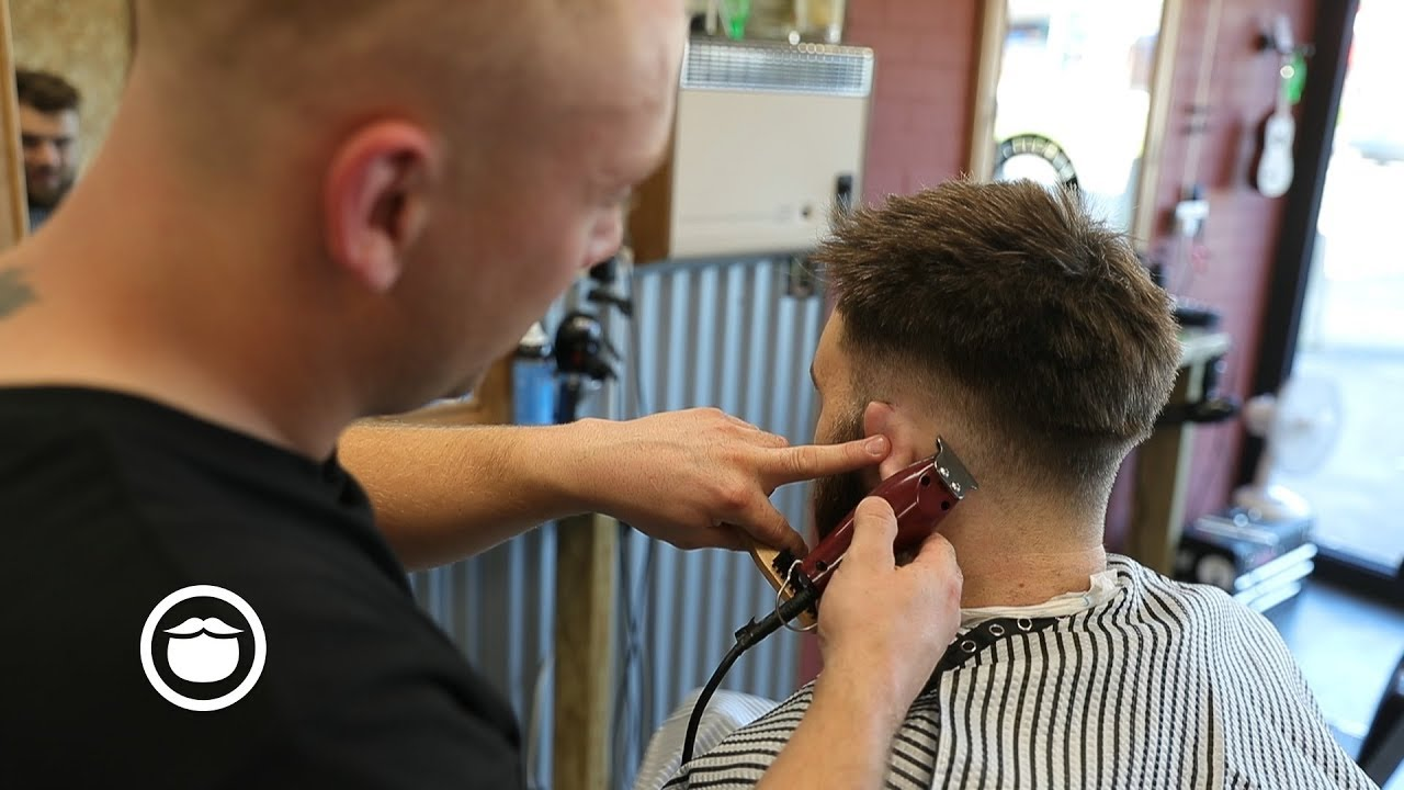 Men S Spiky Low Fade Haircut New Barber Youtube