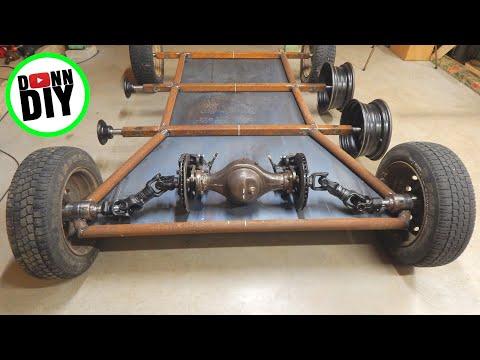 Tracked Amphibious ATV Build PART 7 - Fabricating & Welding Steel Frame