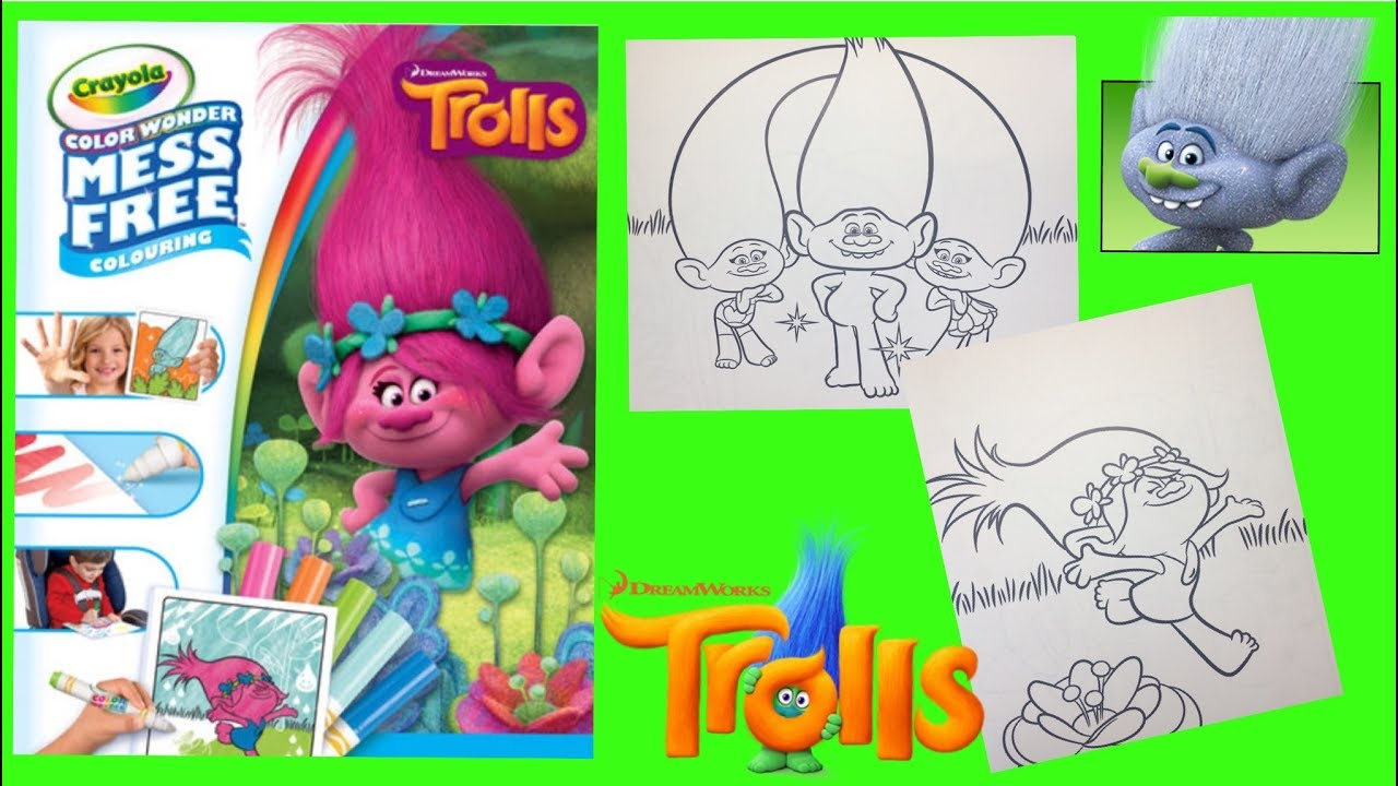 Crayola Color Wonder Dreamworks TROLLS POPPY GUY DIAMOND TWINS for ...