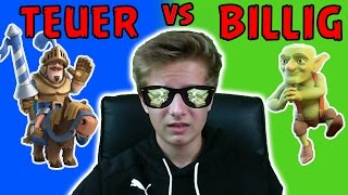 BILLIG vs TEUER Challenge + Bestrafung !!  Let's Play Clash Royale deutsch - Max Apps